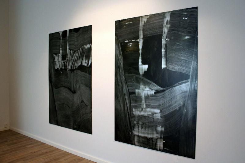 Galleria Maaret Finnberg yleiskuva yksityisnäyttelystä 2010 / öljy alumiinille