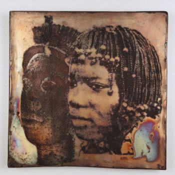 """Teoksen nimi: """"Ifen Oni 600v/tyttö Beninistä 23v"""""""