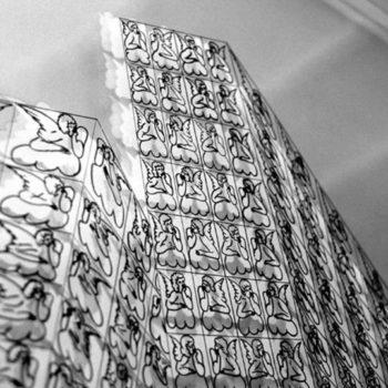Teoksen nimi: Enkelitalo 120×120 cm