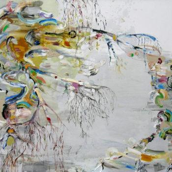Teoksen nimi: Koivun herääminen, 150 x 200cm, 2012