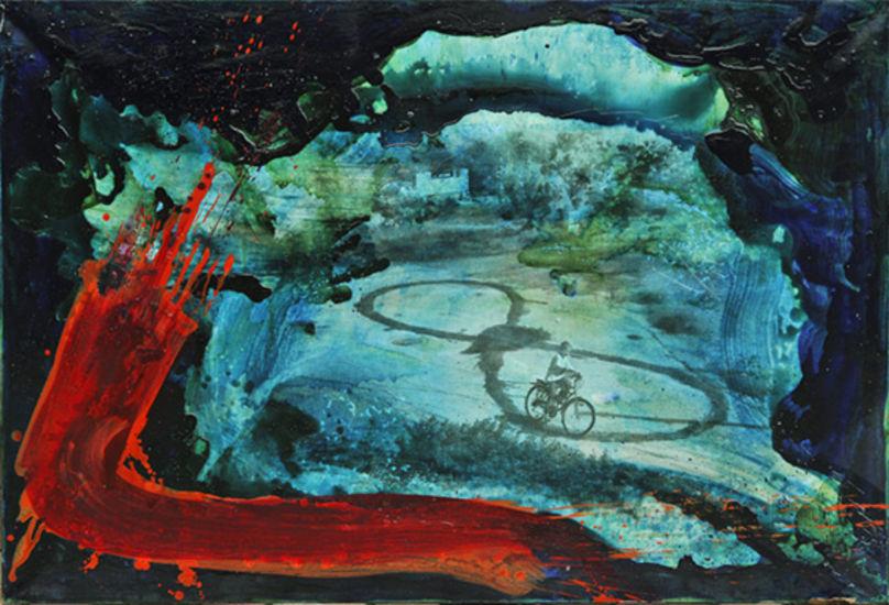 nimetö sarjasta tsunami-maalauksia 2011