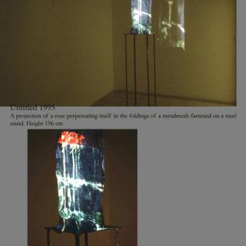 Teoksen nimi: Untitled 1995, part 3 of the 3-room installation/ Galleria Sculptor Helsinki