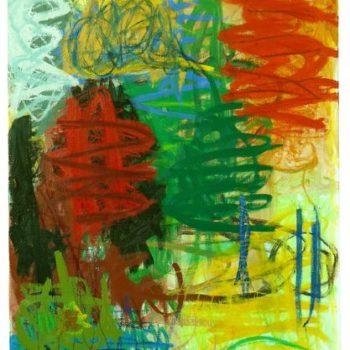 Teoksen nimi: Mun, mun, 2008, öljy kankaalle, 120×100
