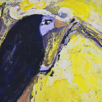 Teoksen nimi: Jathornia, öljykollaasi, 2006 (detail)