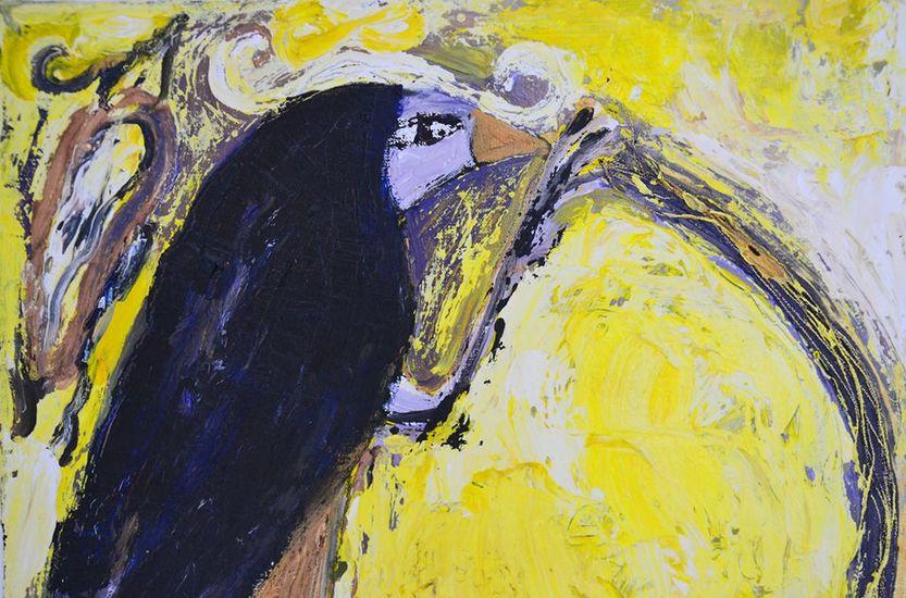 Jathornia, öljykollaasi, 2006 (detail)