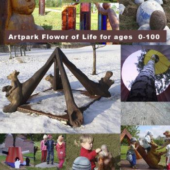 Teoksen nimi: Elämän kukka Taidepuisto Pikku Huopalahdessa