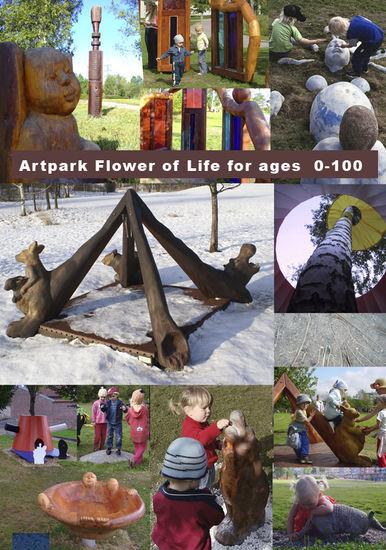 Elämän kukka Taidepuisto Pikku Huopalahdessa