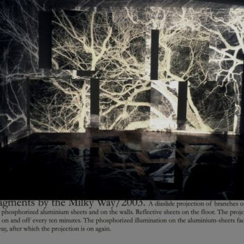 Teoksen nimi: Fragments by the Milky Way 2003 / Installation/ Studio Mezzo Helsinki