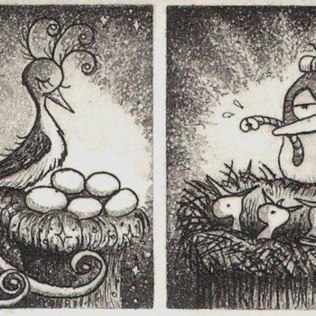 Teoksen nimi: Paratiisilintu ja arkilintu