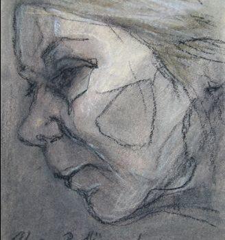 """Teoksen nimi: """"Sisokset 6"""",  kuivapastellisarjasta, 2010"""