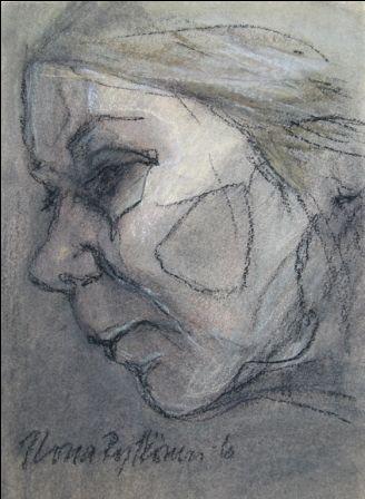 """""""Sisokset 6"""",  kuivapastellisarjasta, 2010"""