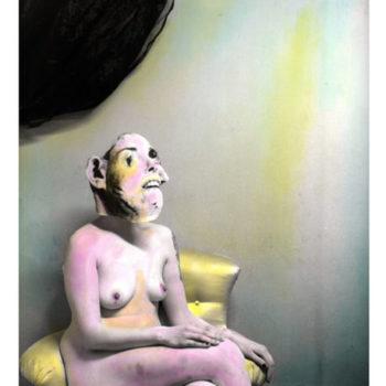 Teoksen nimi: Kubistinen tutkielma ilosta, sävytetty hopeagelatiinivedos, 30x24cm, 2013