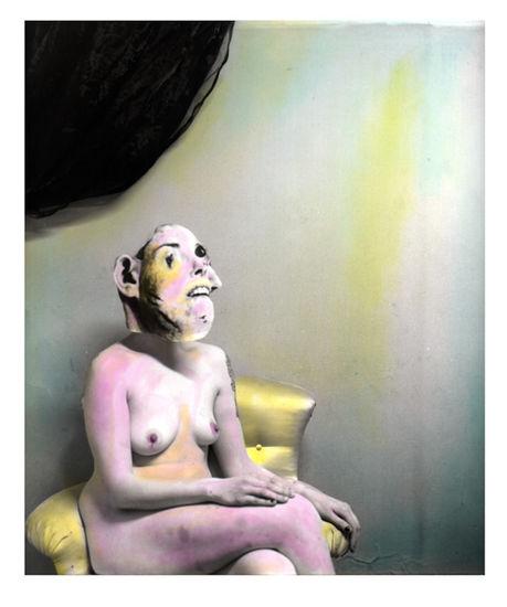 Kubistinen tutkielma ilosta, sävytetty hopeagelatiinivedos, 30x24cm, 2013