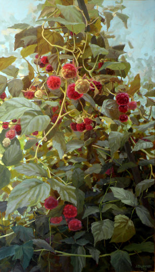 Rubus idaeus. Part I, 2012. Oil on canvas 140x80cm.