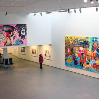 Teoksen nimi: Näyttelynäkymä Kemin Taidemuseosta, 2010. / An exhibition view from Kemi Art Museum, 2010.