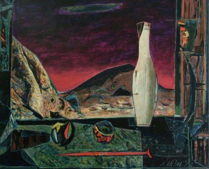 Punainen naula-asetelma, 1972