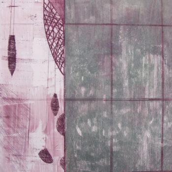 Teoksen nimi: ILOT / JOYS, 7, 2012, monotype, etching, drypoint, 28 x 23 cm