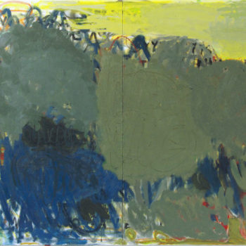 Teoksen nimi: Alhaalla, 2013, öljy kankaalle, 200×280