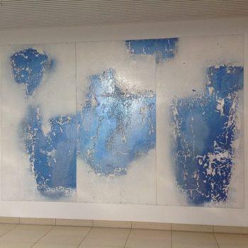 Teoksen nimi: Linna pilvien korkeudelle 250×300 cm / akryyli alumiinille