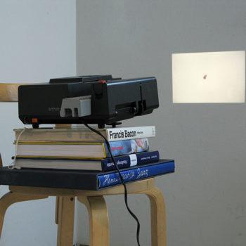 Teoksen nimi: ÄKKIÄ VIIME KESÄNÄ   diaprojisointi, kirjat (2009)