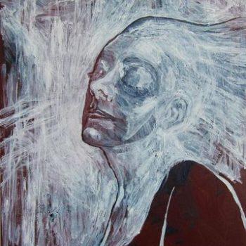 Teoksen nimi: Omakuva. 2012. 50×60. Akryylimaalaus
