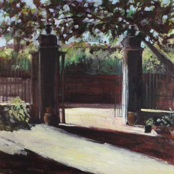 Teoksen nimi: Tiikerikissan puutarha VI / The Leopard´s garden VI