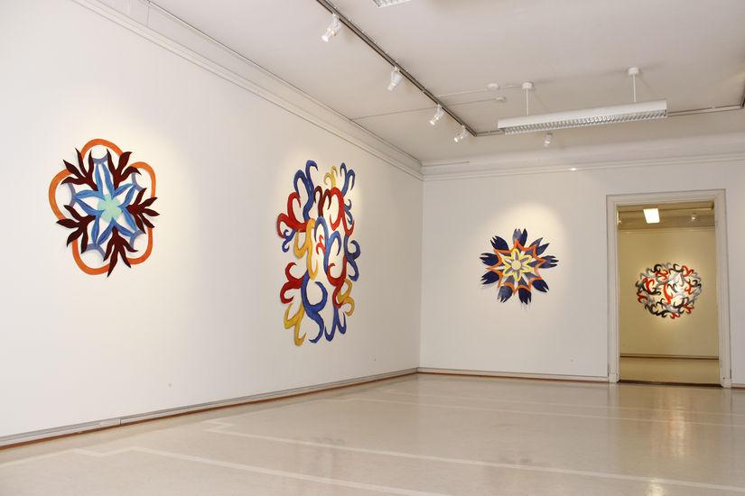 Yleiskuva näyttelystäni Galleria Saskiassa Tampereella 2013
