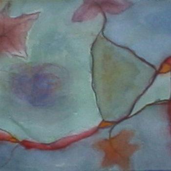 Teoksen nimi: Hunajavirrat, akvarelli