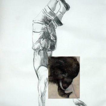 Teoksen nimi: Mammutti kävelee käsillään