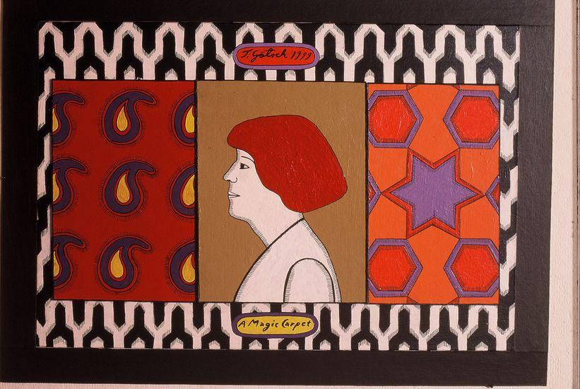 Sivu taiteilijakirjasta. Becoming a magic carpet, 1999