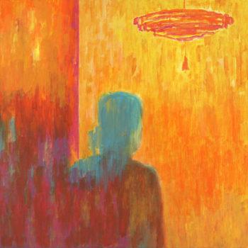 Teoksen nimi: Sisällä (Inside), 2008, akryyli/acrylic, 65 x 85 cm