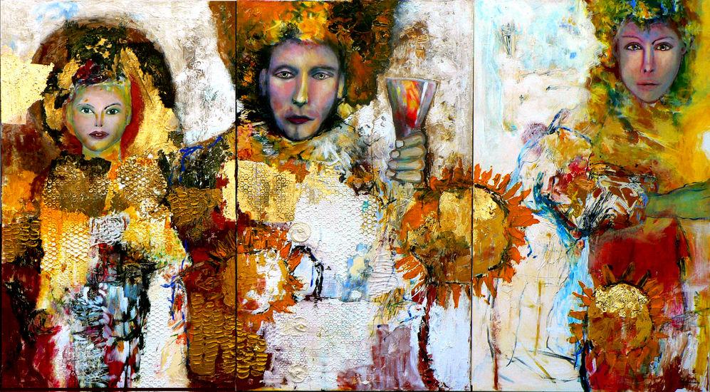 Valontuojat (marttyyri, kuningas, narri ja auringonkukat)