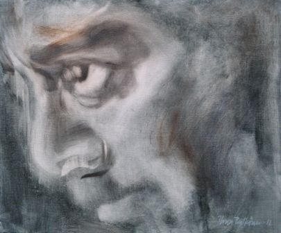 """Mikä mies 2"", öljyväri, 2012"