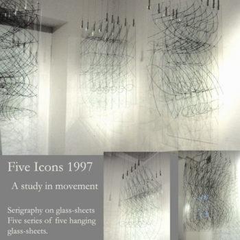 Teoksen nimi: Five Icons 1997/ Galleria Bau Helsinki