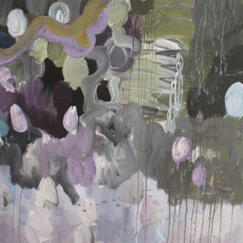 Teoksen nimi: Sarjasta Kaunismaailma 12. akryylimaalaus, 120×100 cm, 2015