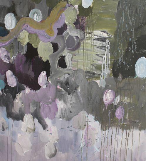 Sarjasta Kaunismaailma 12. akryylimaalaus, 120×100 cm, 2015