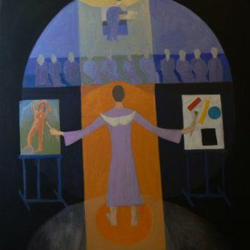 Teoksen nimi: Maalaustaiteen synty/Birth of painting