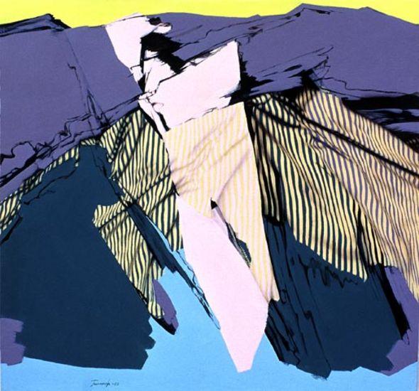 Ikaros, akryyli kankaalle, 120×140 cm