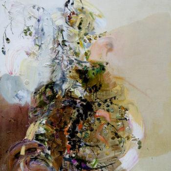 Teoksen nimi: Lehtikuusen latva, 160 x 120cm, 2012