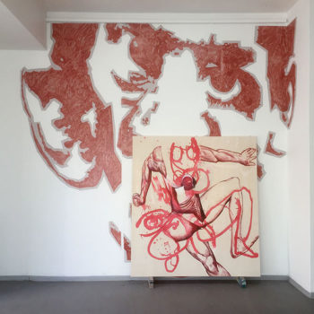 Teoksen nimi: Installaatio Hybridi III, Galleria Uusi Kipinä, 2018