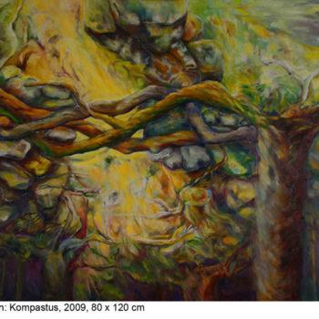 Teoksen nimi: Kompastus, 2009, öljy kankaalle,80 x 120 cm