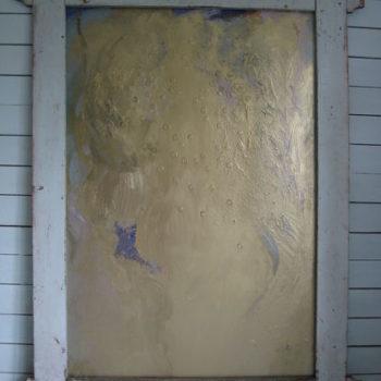 Teoksen nimi: Yltäkylläisyyden virta/Flow 2011 196×146 cm acrylic and pigments on hardboard (mixed media)