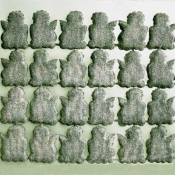 Teoksen nimi: Enkelit6 sekatekniikka 128×128 cm