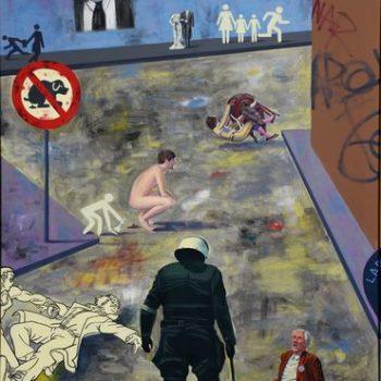 Name of the work: Yksityiskohta 2, 1/3 Miehen häpeä