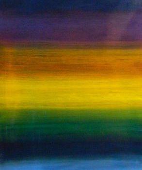 Teoksen nimi: On aurinkoista sinisellä vuorella/ sarjasta Hiljaiset tilat