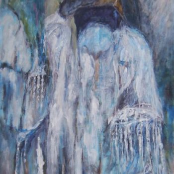 Teoksen nimi: Sulava rinne  120 x 100 cm  v. 2009