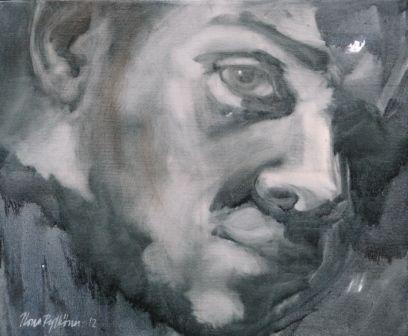 """""""Mikä Mies 1"""", öljyväri, 2012, yksityiskokoelmat"""
