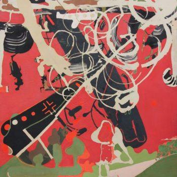 Teoksen nimi: Siivilläsi peitä meitä,2012,183 X 170 cm,akryyli kankaalle