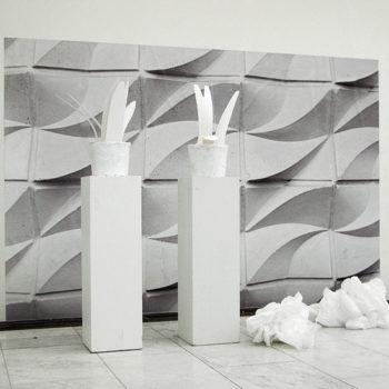 Teoksen nimi: WHITE TRASH IN ORIENT EXPRESS mustesuihkutuloste, muovi (2009)