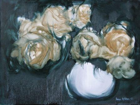"""""""Keltaiset ruusut"""", öljyväri, 2012"""